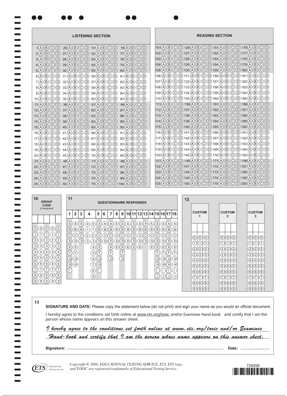 answer-sheet-toeic